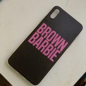 Brown Barbie iPhone XS phone case